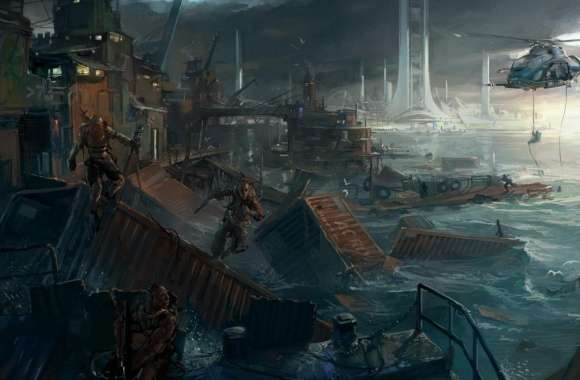Brink - Container City Concept Art