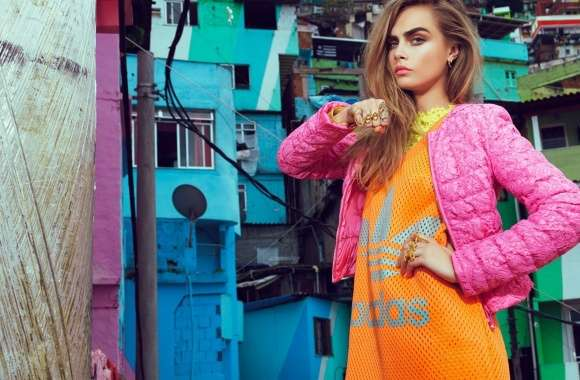 Cara Delevingne Colorful Outfit