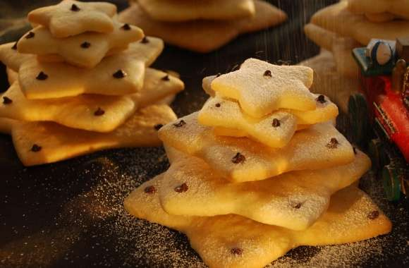 Christmas Biscuit Trees