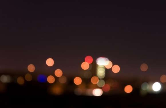 City Night Lights Bokeh