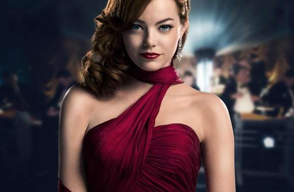 Emma Stone in Red Dress
