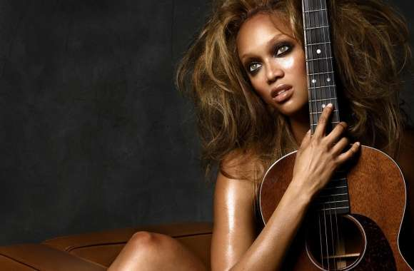 Fashion Model Tyra Banks wallpapers hd quality