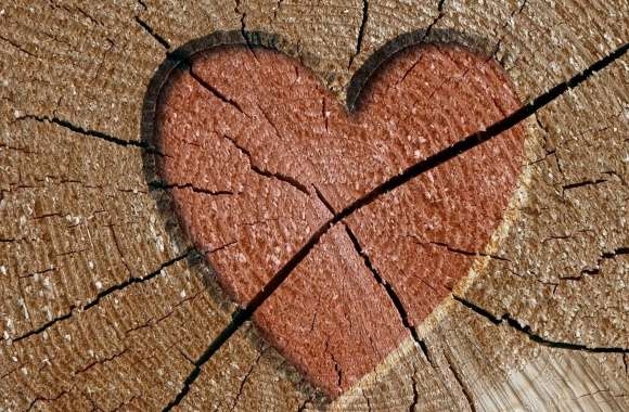 Heart Engraved Log