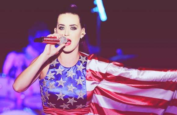 Katy Perry American Flag Dress