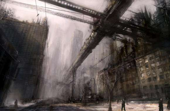 Ruined City Art wallpapers hd quality