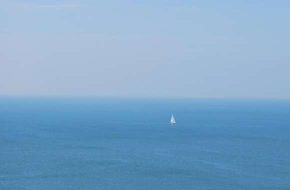 Sailboat In Open Sea wallpapers hd quality