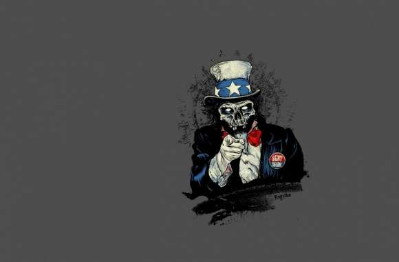 Uncle Sam Zombie wallpapers hd quality