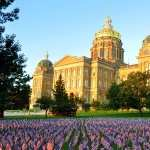 Iowa State Capitol background