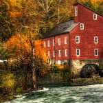Watermill wallpaper