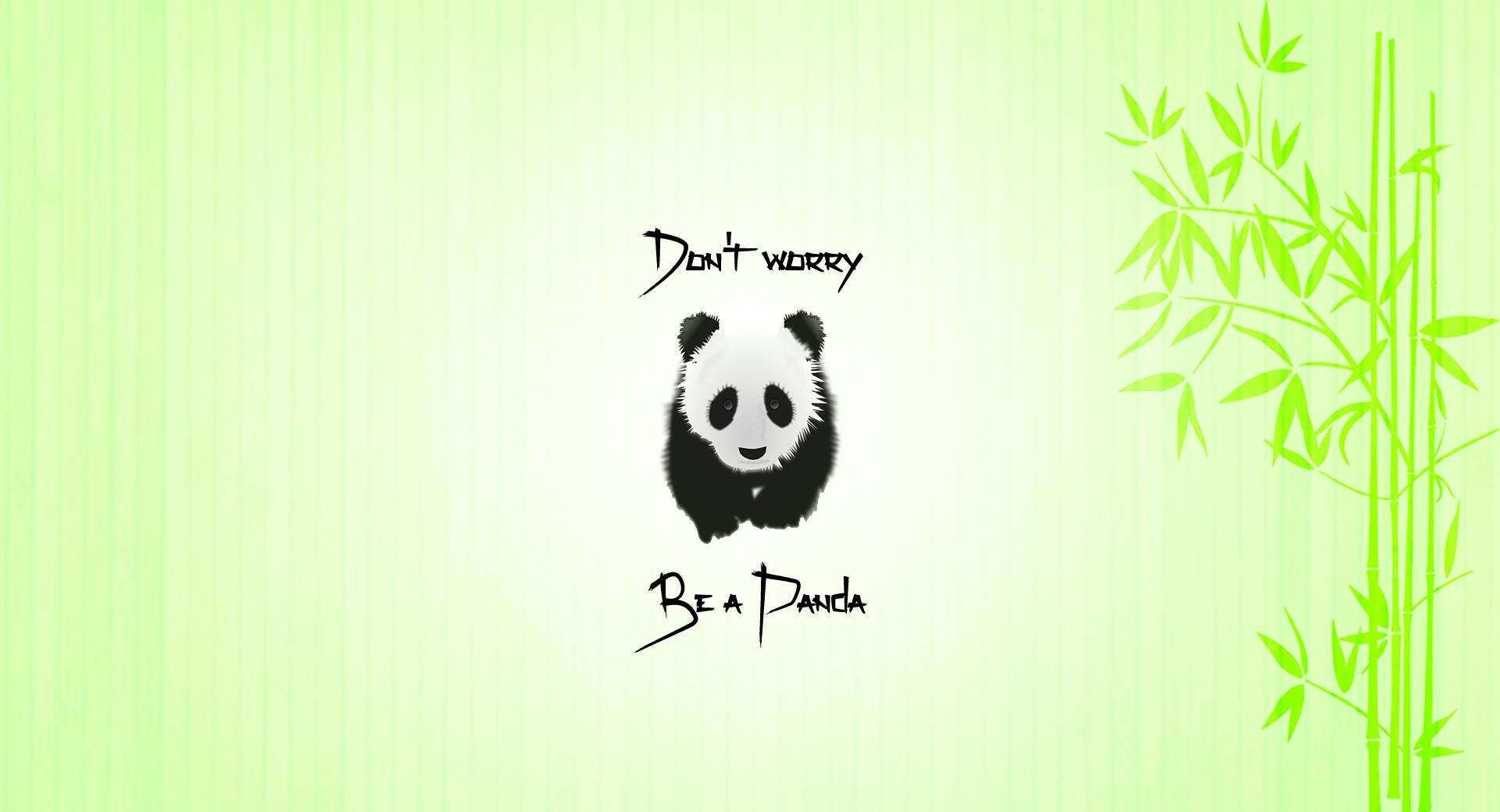 Be a Panda wallpapers HD quality