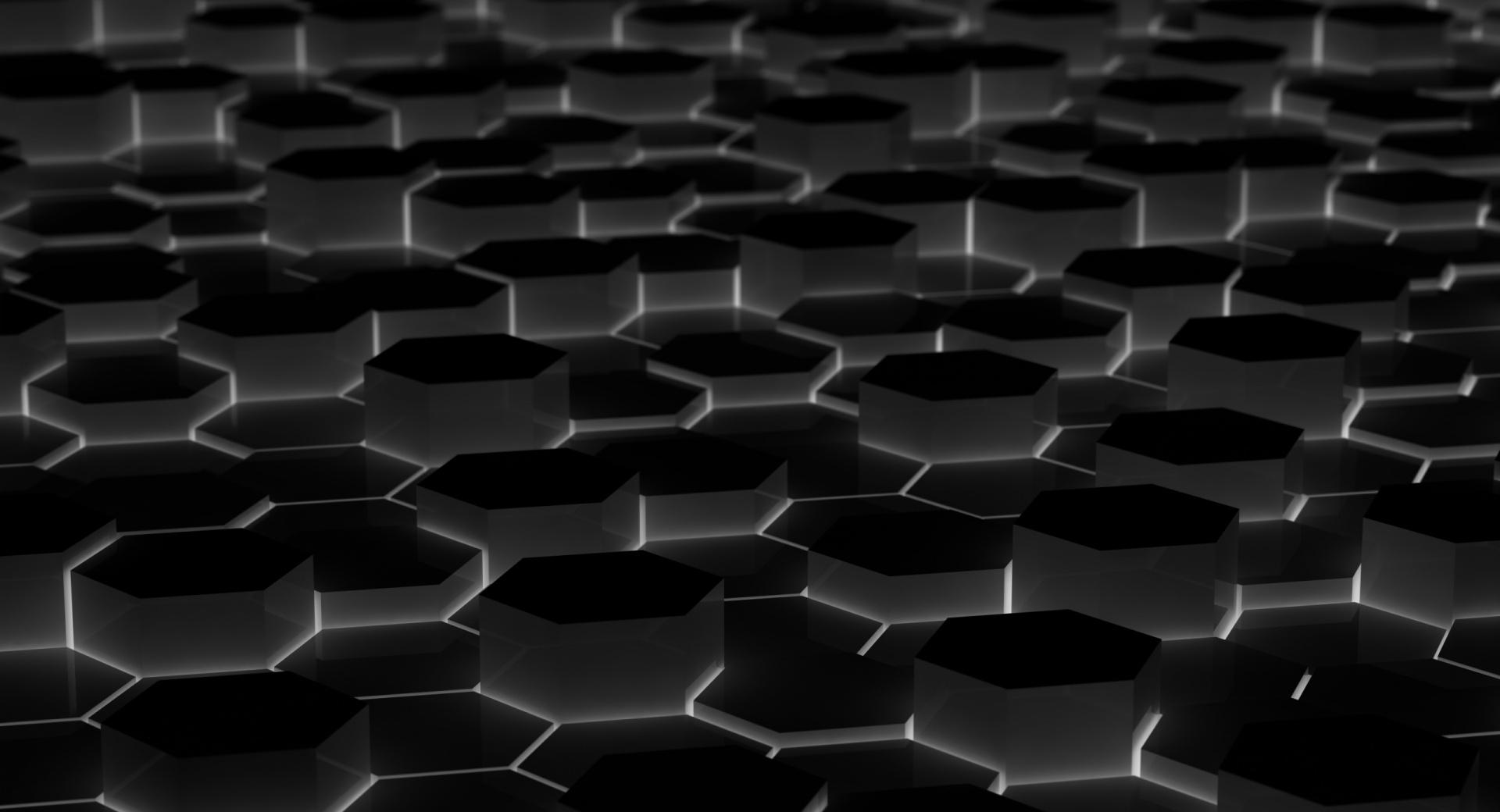Black Hexagons wallpapers HD quality