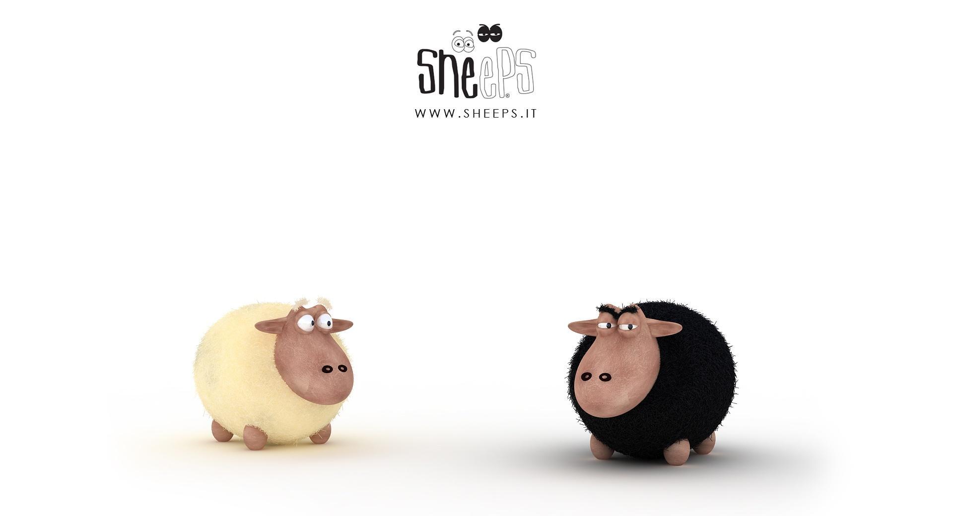 Black Sheep Vs White Sheep wallpapers HD quality
