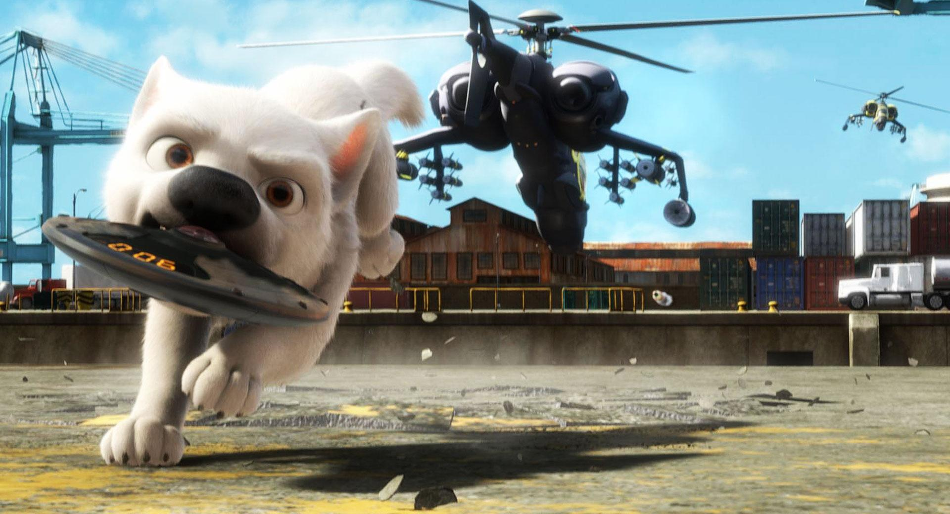 Bolt Running With Bomb In Mouth wallpapers HD quality