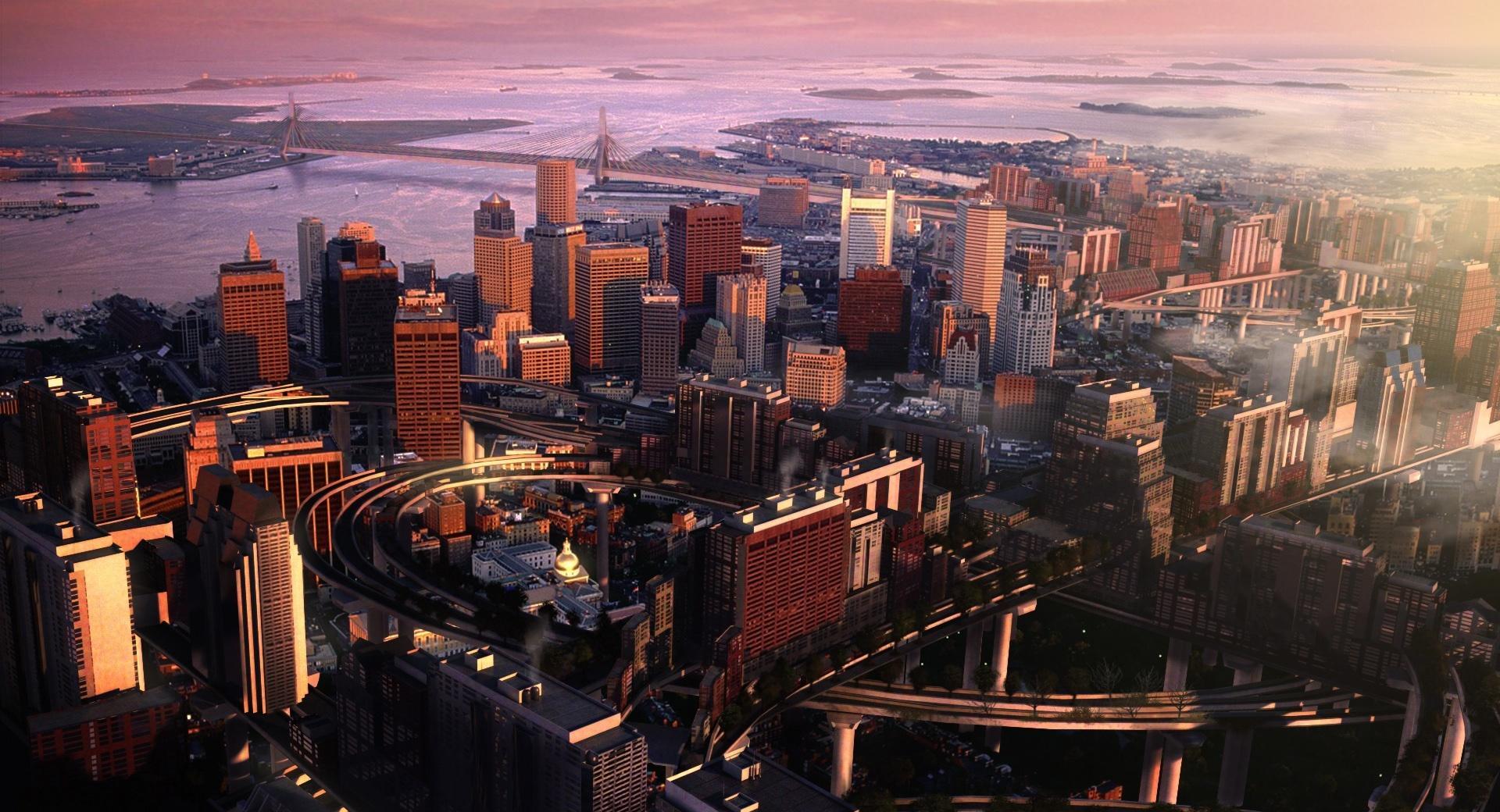 Boston Panorama wallpapers HD quality