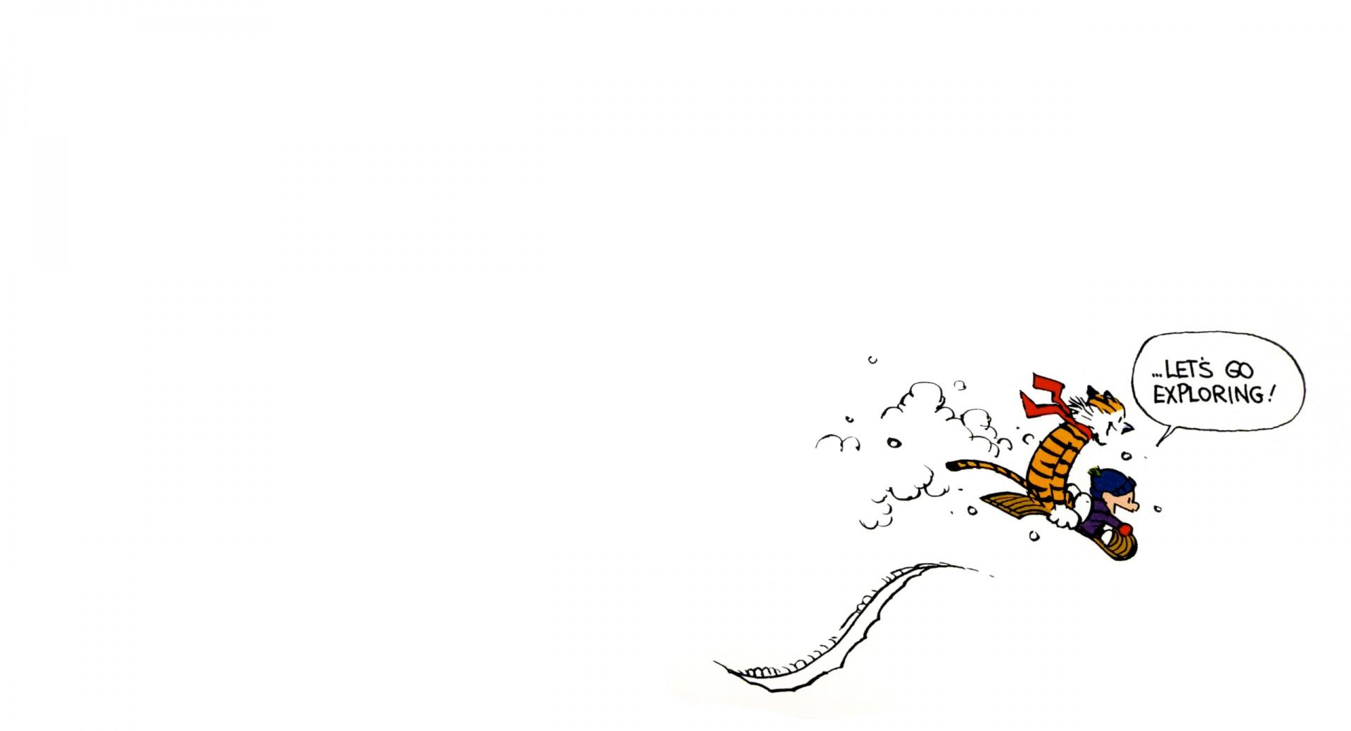 Calvin And Hobbes Exploring wallpapers HD quality