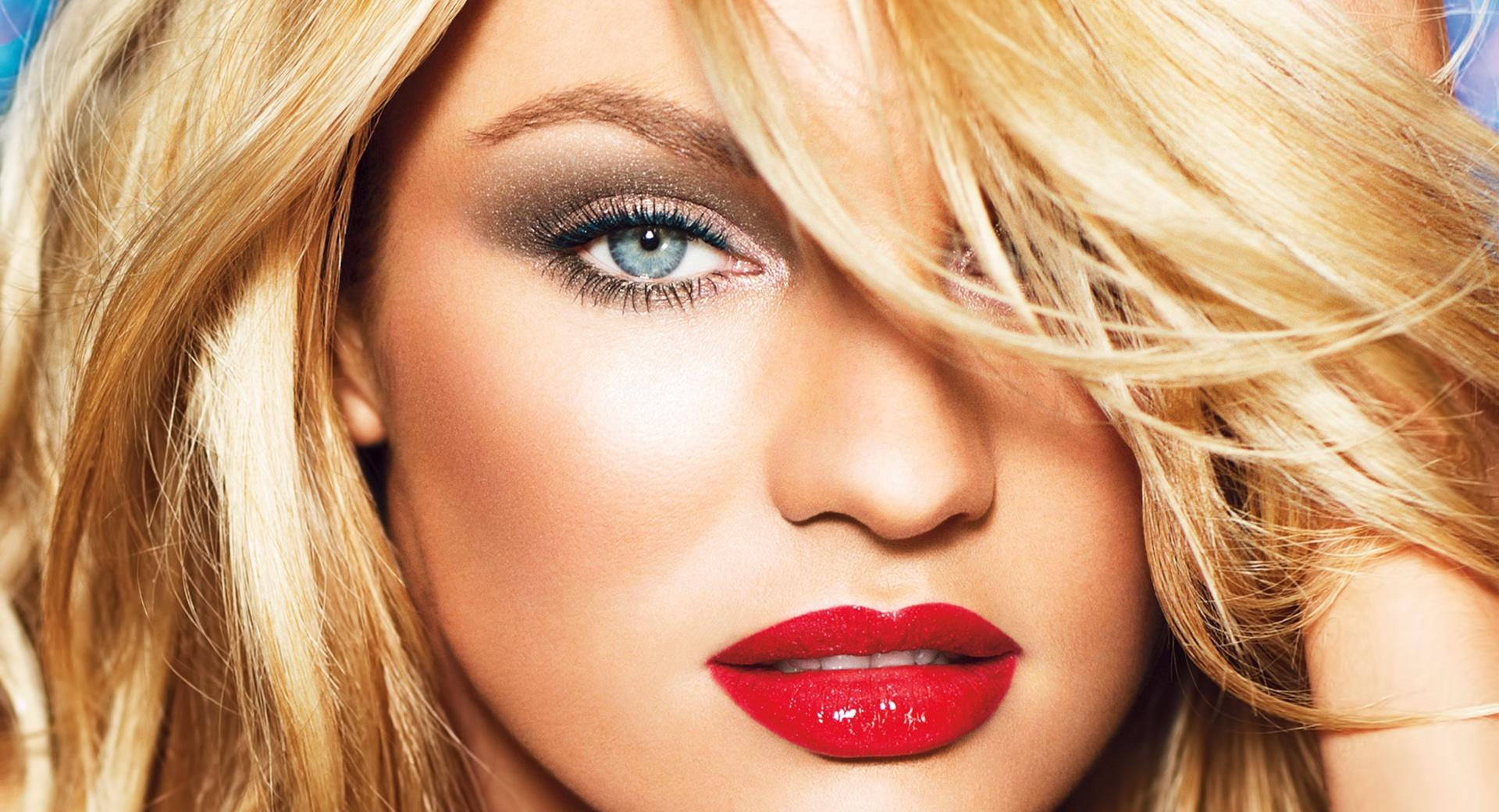 Candice Swanepoel Red Sexy Lips wallpapers HD quality