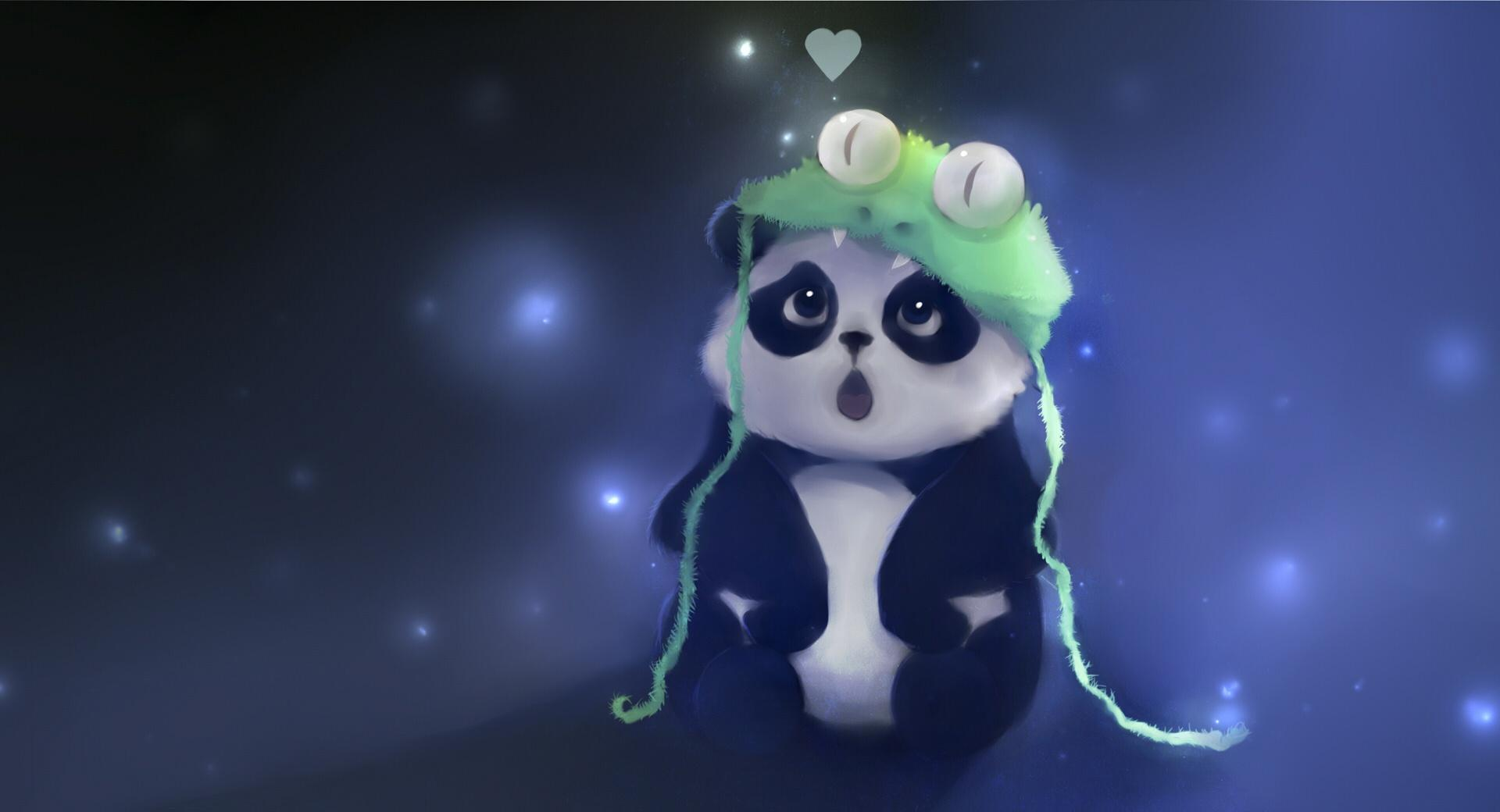 Cute Panda Painting wallpapers HD quality