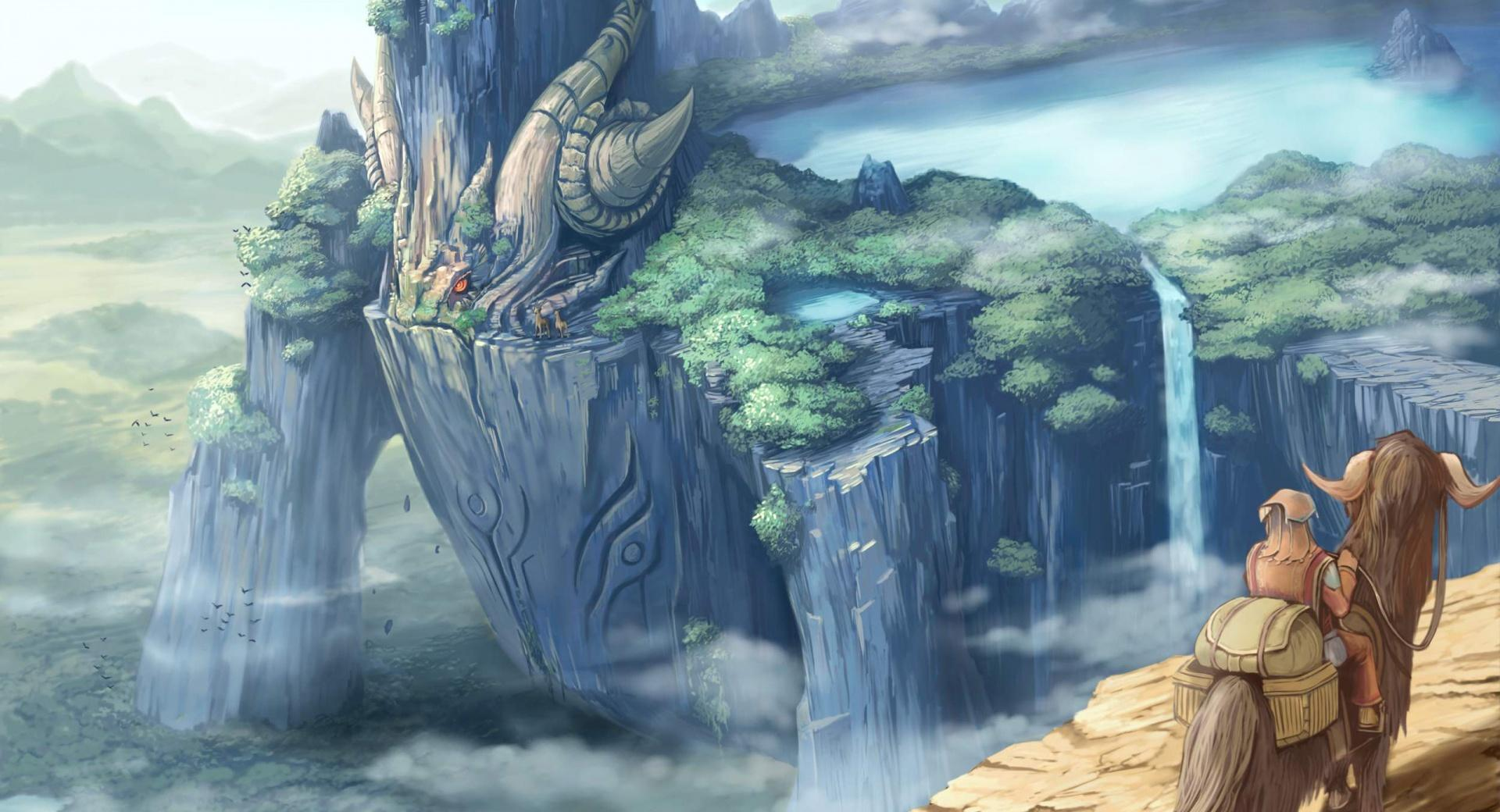 Dragon Castle Fantasy Art at 1152 x 864 size wallpapers HD quality
