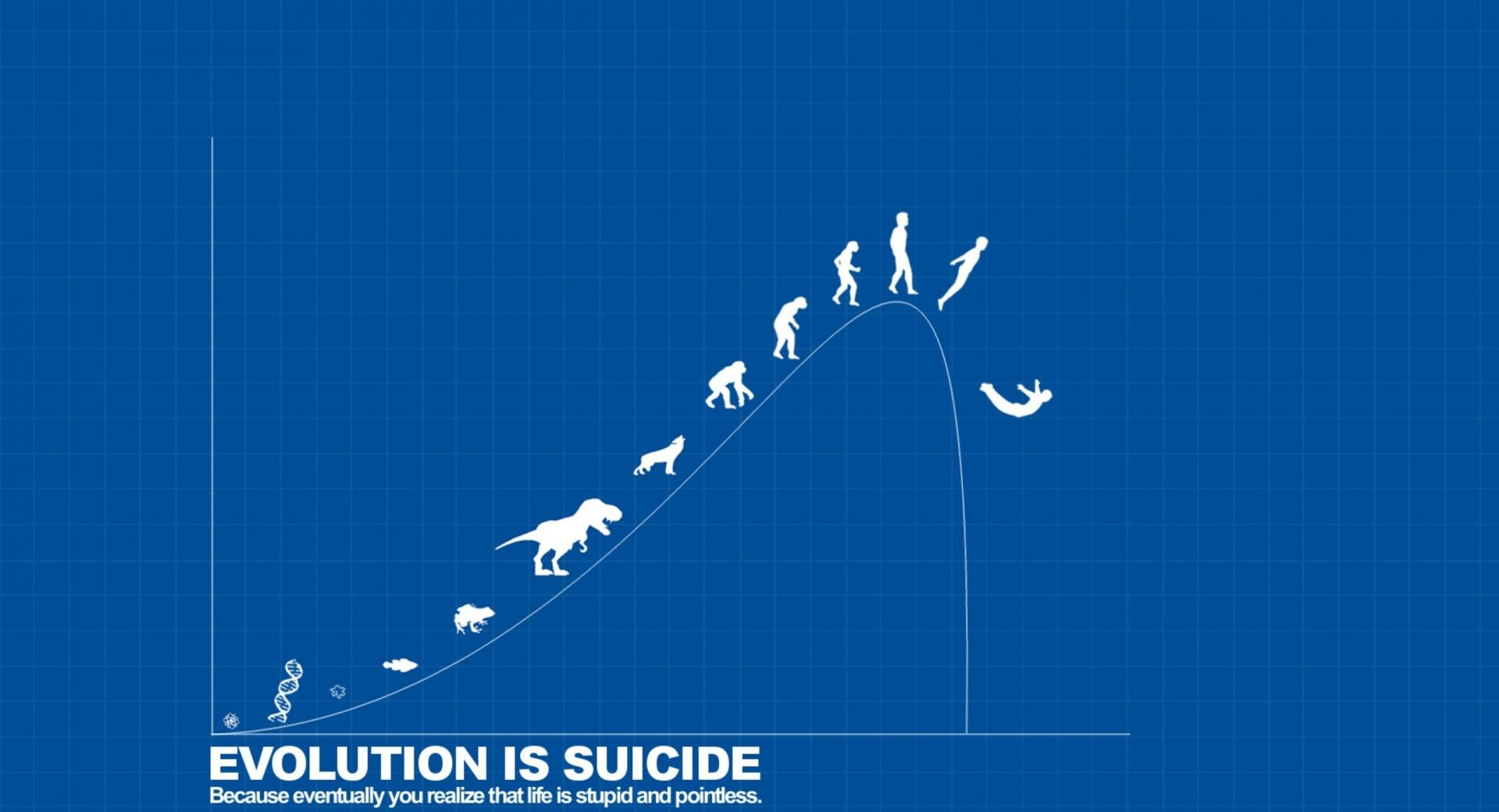 Evolution is Suicide at 640 x 1136 iPhone 5 size wallpapers HD quality
