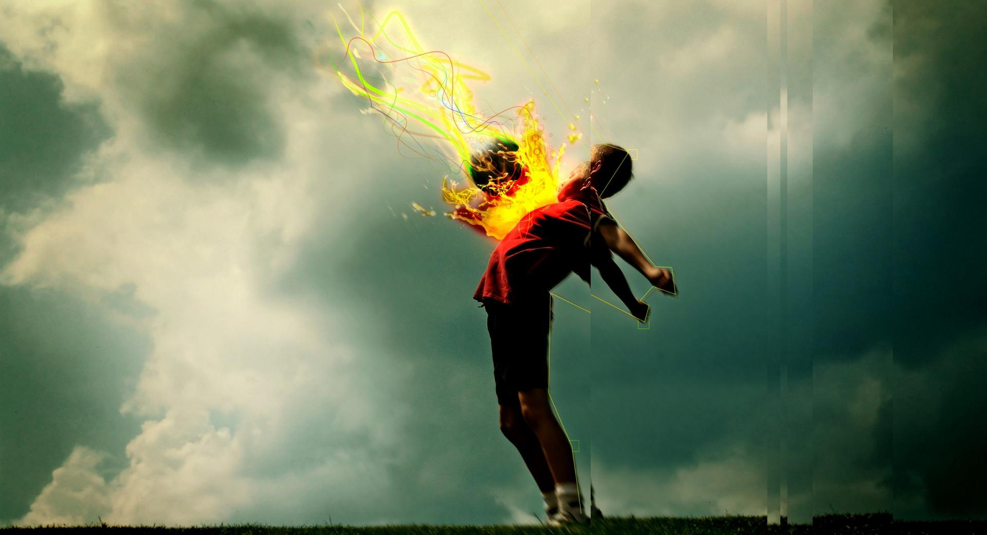 The Gallery For Flaming Football Background Images: Flaming Football Wallpaper HD Download