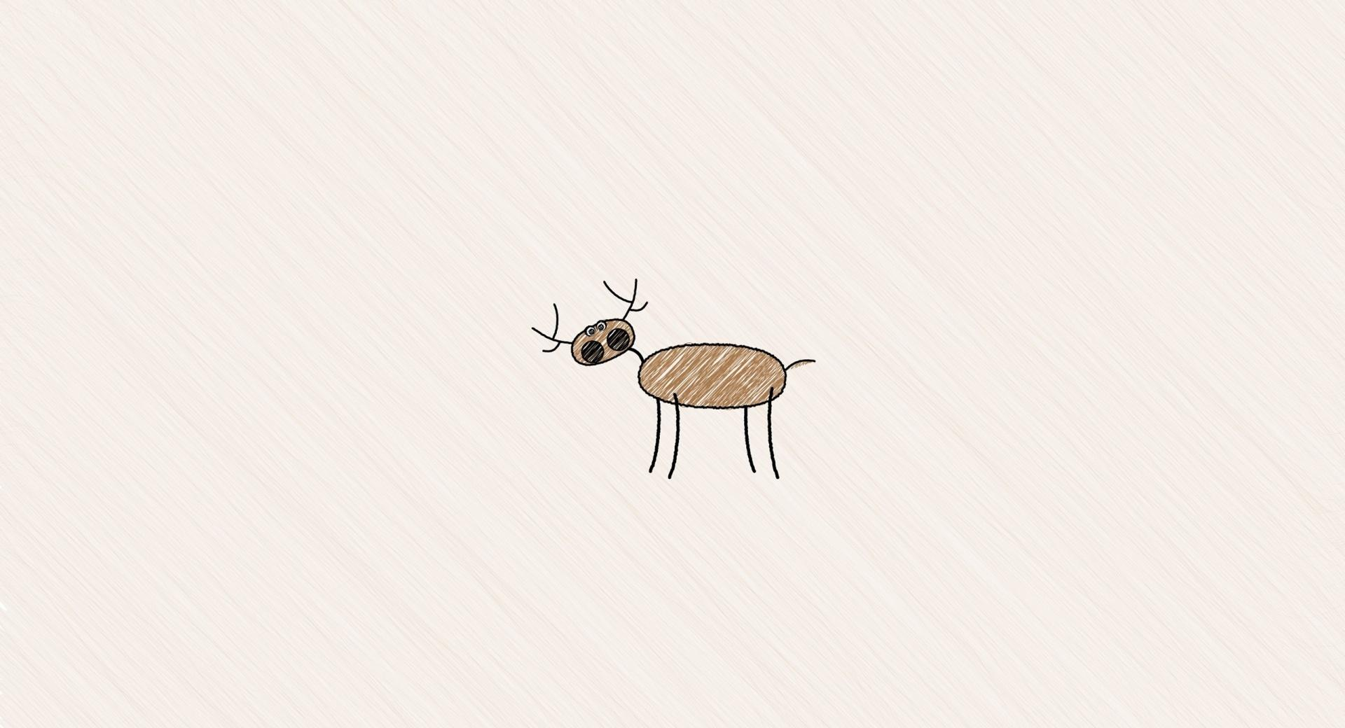 Funny Deer Drawing wallpapers HD quality