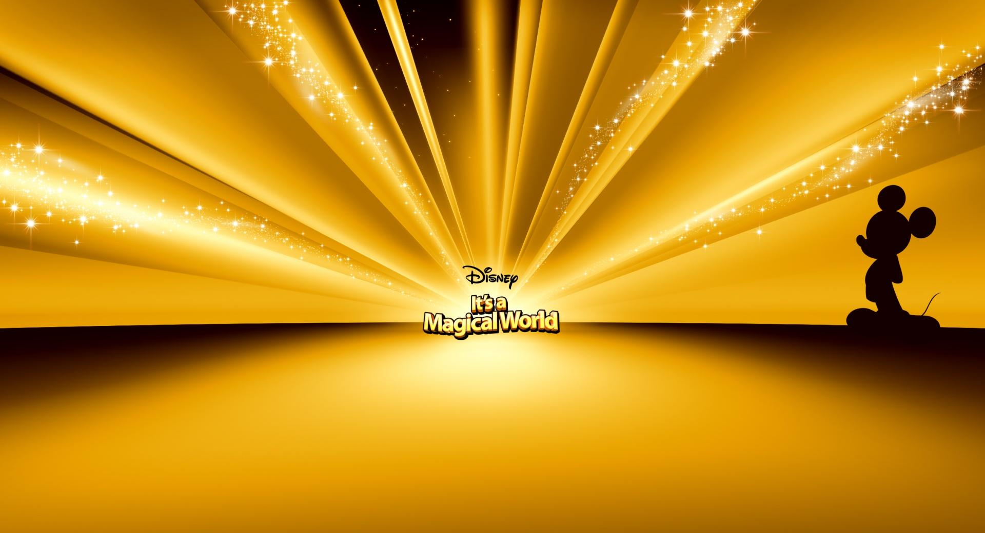 Mickey Mouse Disney Gold wallpapers HD quality