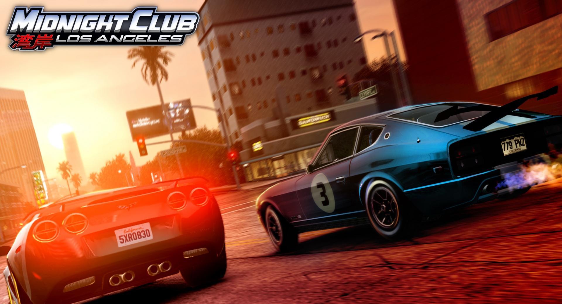 Midnight Club Los Angeles Corvette vs 280Z wallpapers HD quality