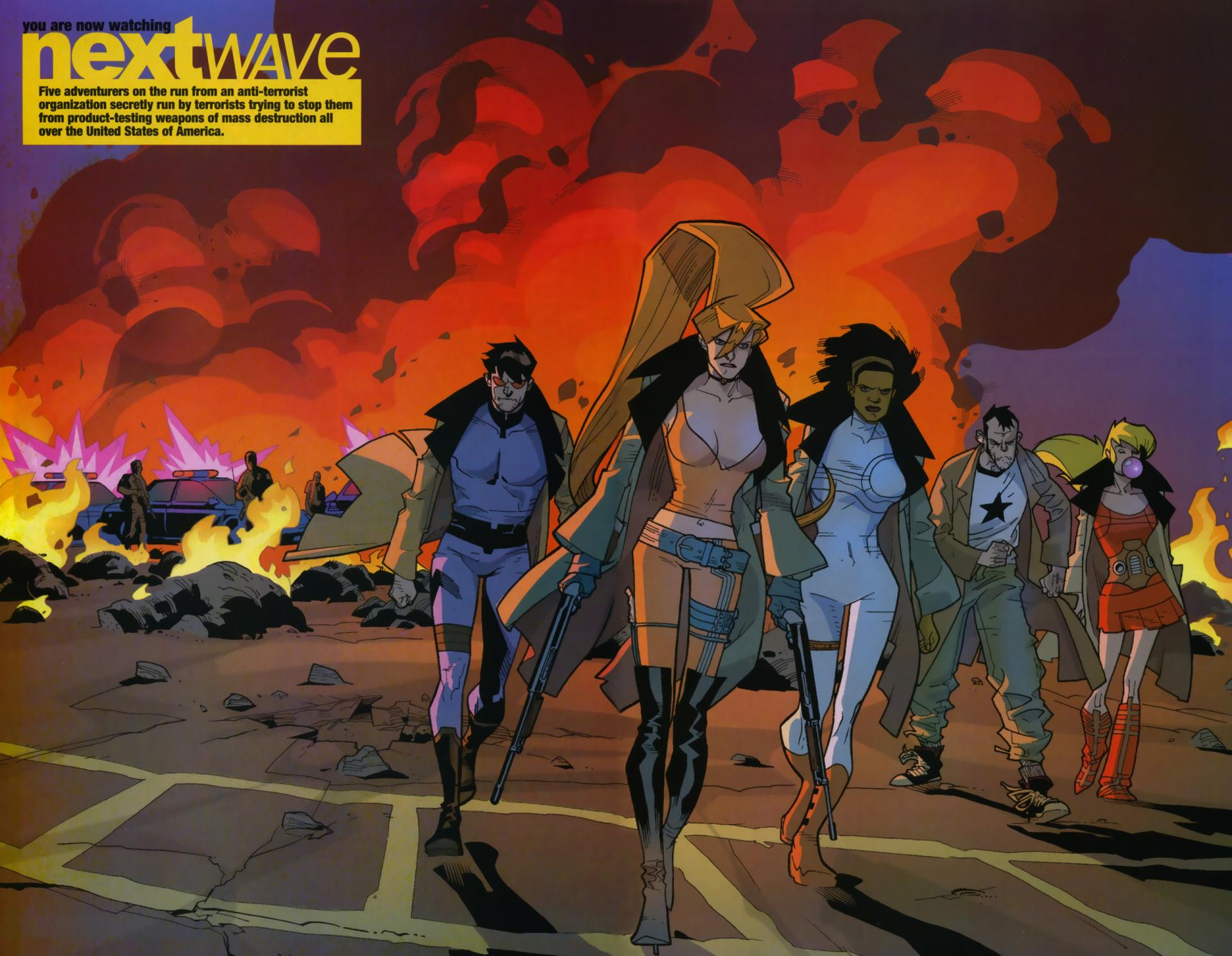 Nextwave Comics wallpapers HD quality