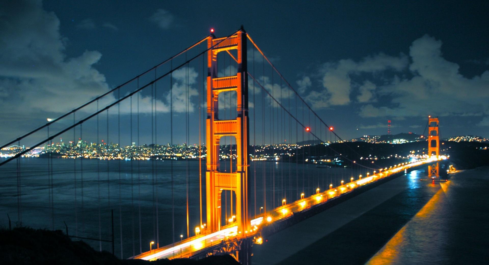 Night Golden Gate Bridge wallpapers HD quality