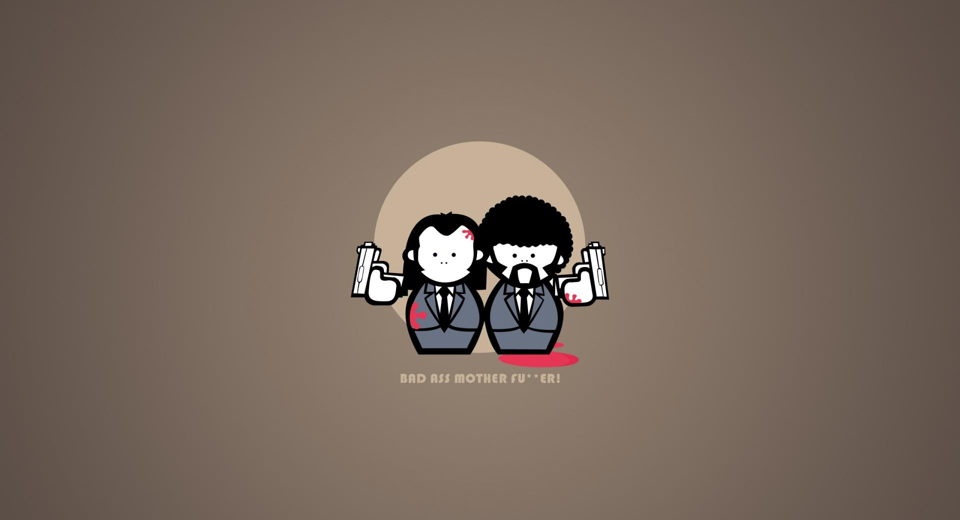 Pulp Fiction Cartoon at 1600 x 1200 size wallpapers HD quality