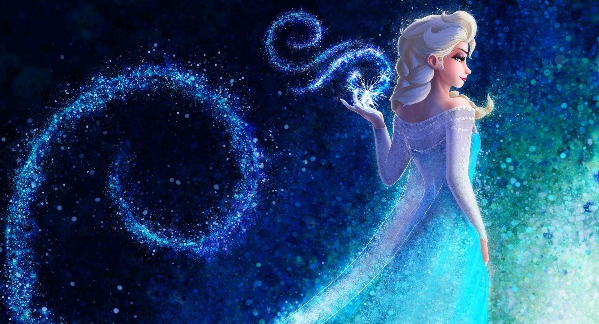Queen Elsa Frozen hand snowflakes concept art wallpapers HD quality