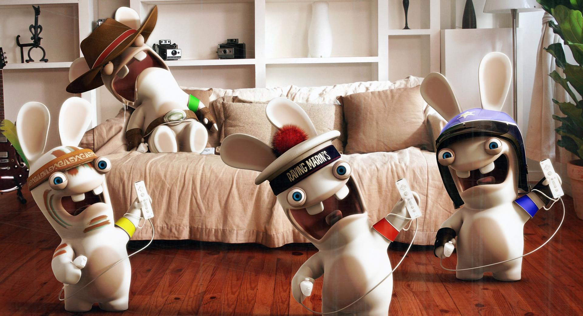 Rayman Raving Rabbids Playing Wii wallpapers HD quality