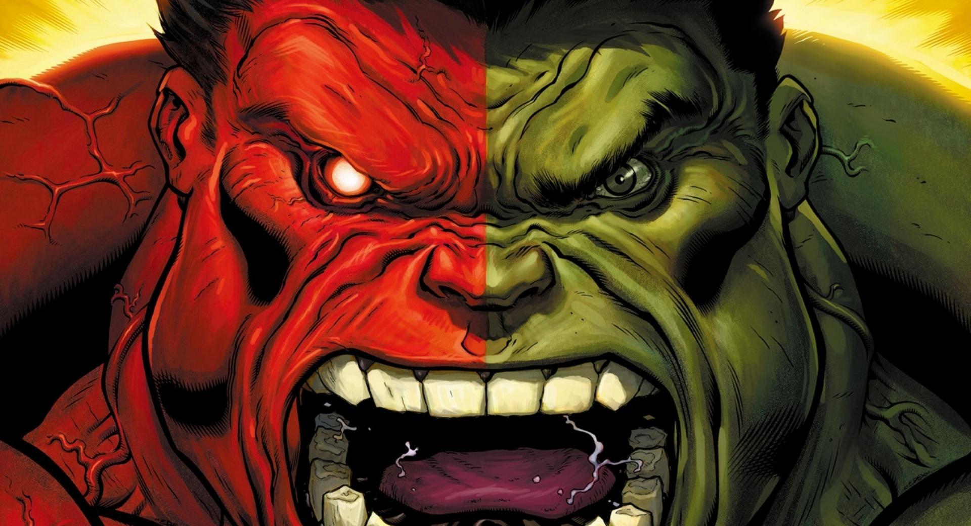 Red Hulk vs Green Hulk wallpapers HD quality