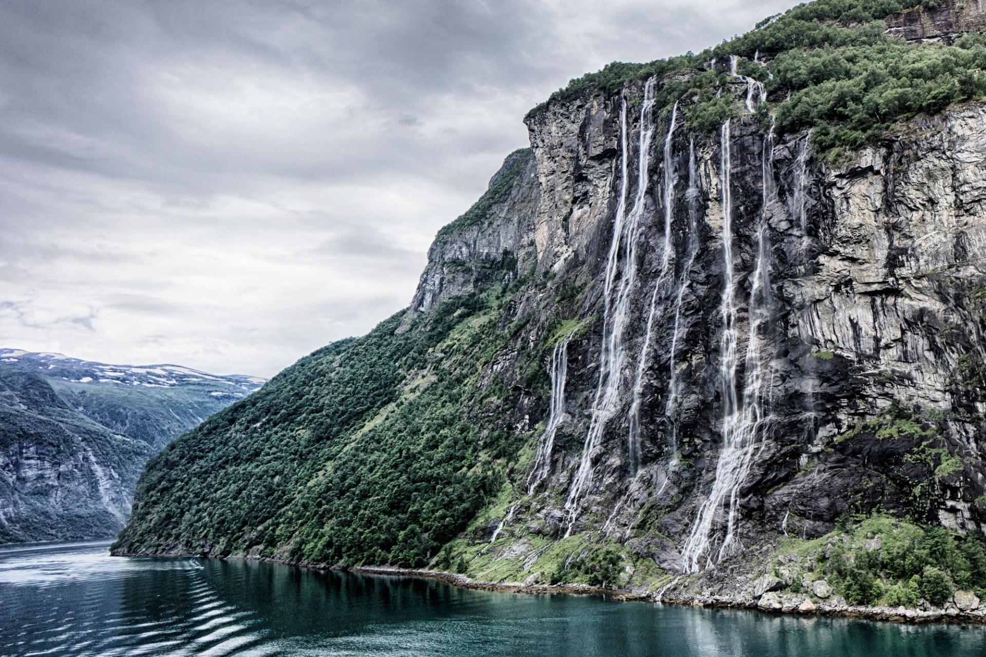 Seven Sisters Waterfall, Norway wallpapers HD quality