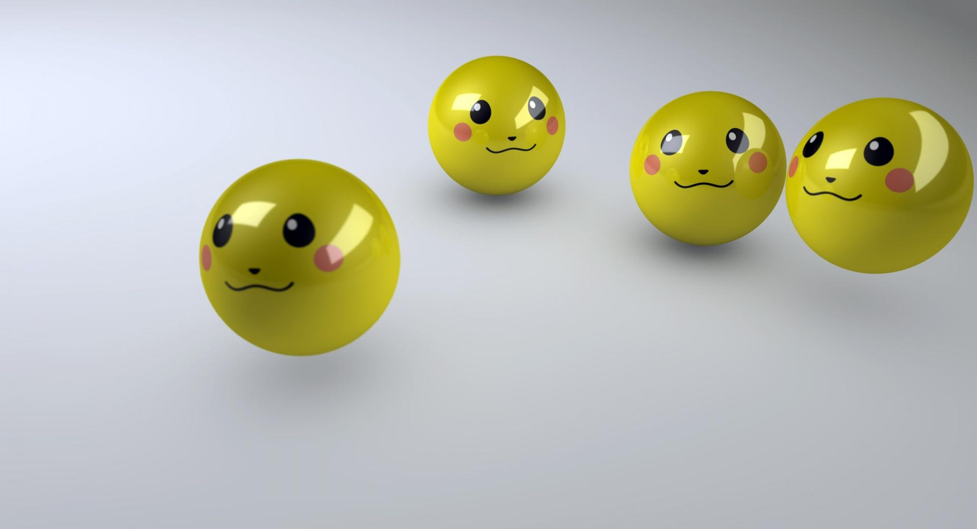 Smiley Faces 3D wallpapers HD quality