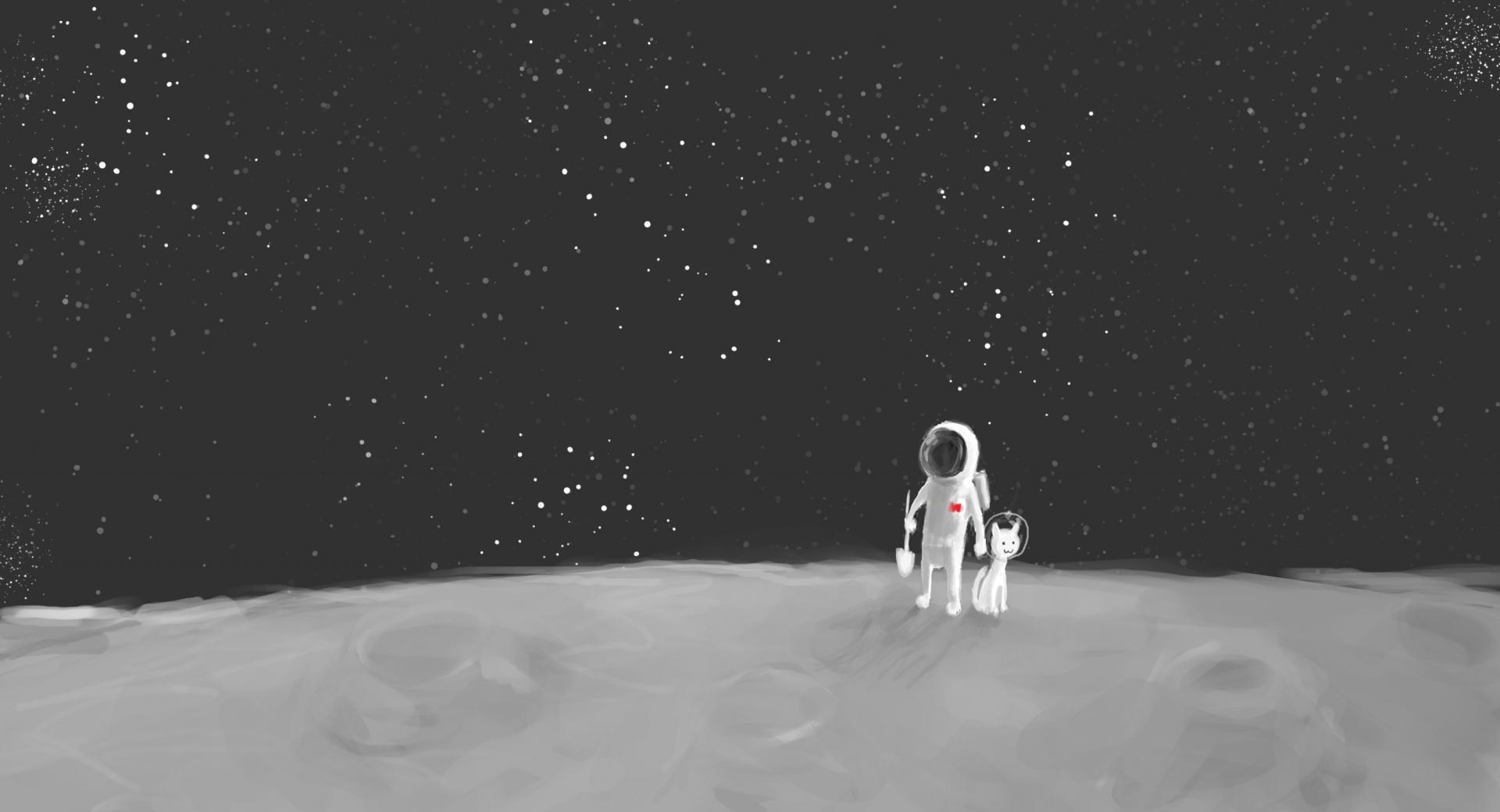 Spaceman and Spacedog wallpapers HD quality