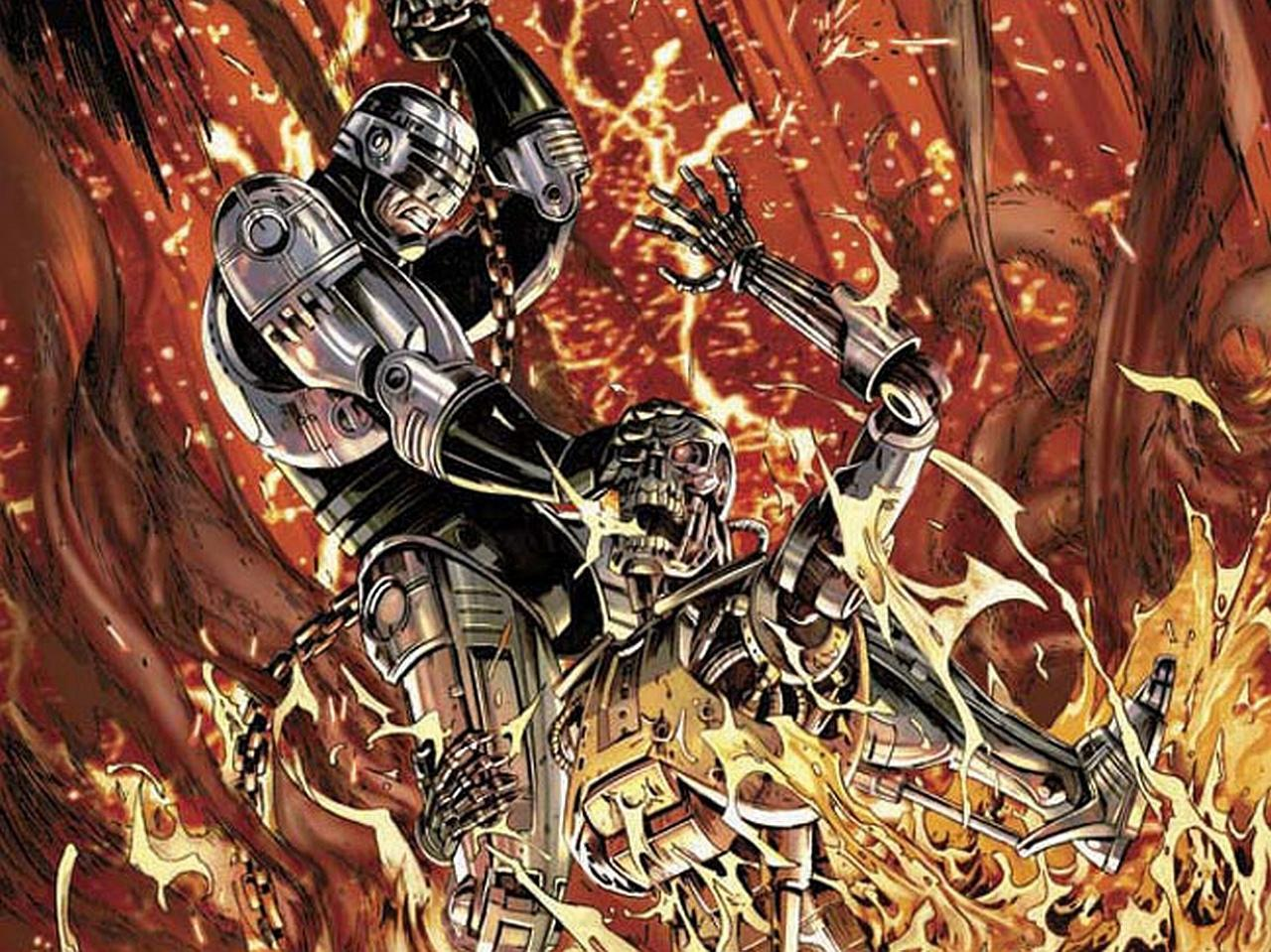 Terminator Robocop at 640 x 1136 iPhone 5 size wallpapers HD quality