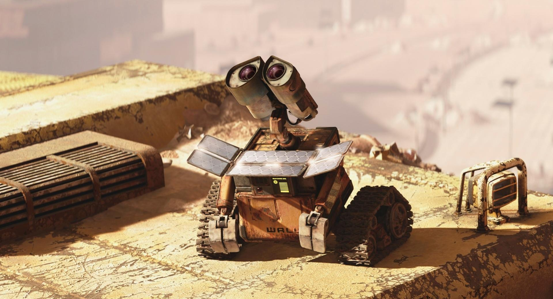 Wall E Looking Up at 640 x 1136 iPhone 5 size wallpapers HD quality