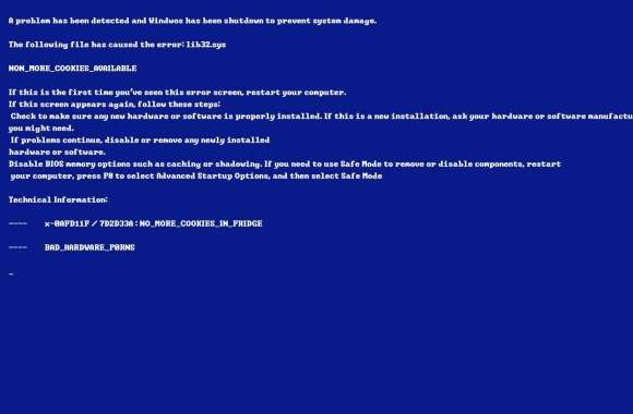 Bluescreen of Death