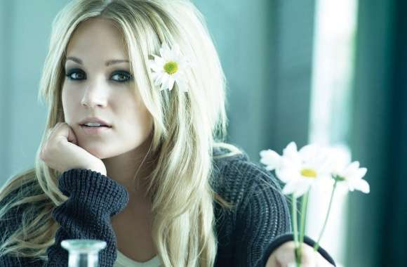 Carrie Underwood with Flowers