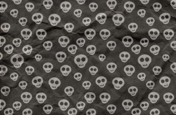 Cute Skulls Wrapping Paper wallpapers hd quality