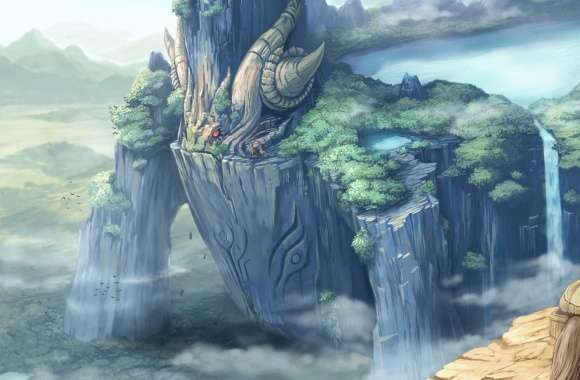 Dragon Castle Fantasy Art wallpapers hd quality