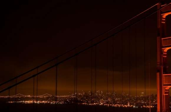 Golden Gate At Night wallpapers hd quality