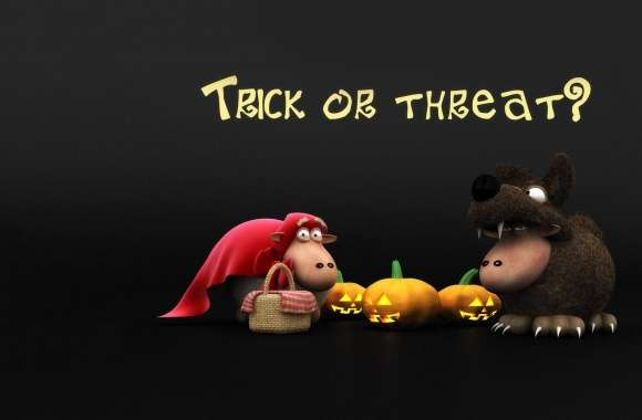 Halloween Sheeps Trick Or Threat Screen