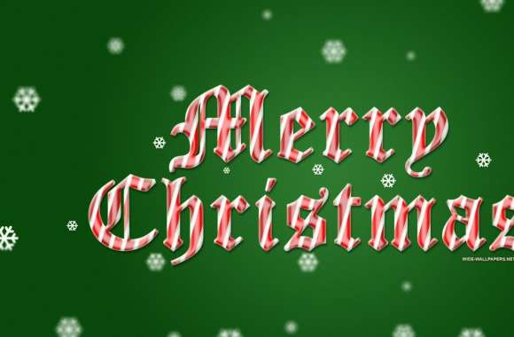 Merry Christmas 2016 Green Background