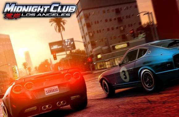 Midnight Club Los Angeles Corvette vs 280Z wallpapers hd quality