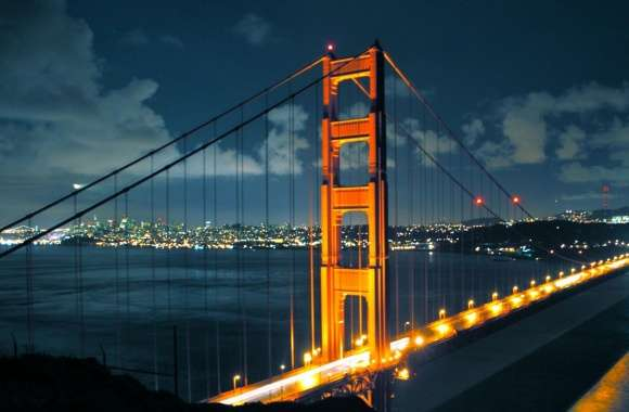 Night Golden Gate Bridge wallpapers hd quality