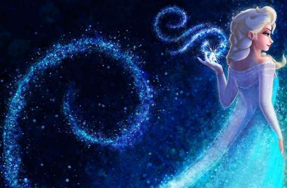 Queen Elsa Frozen hand snowflakes concept art wallpapers hd quality