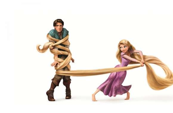Tangled  Rapunzel And Flynn Ryder