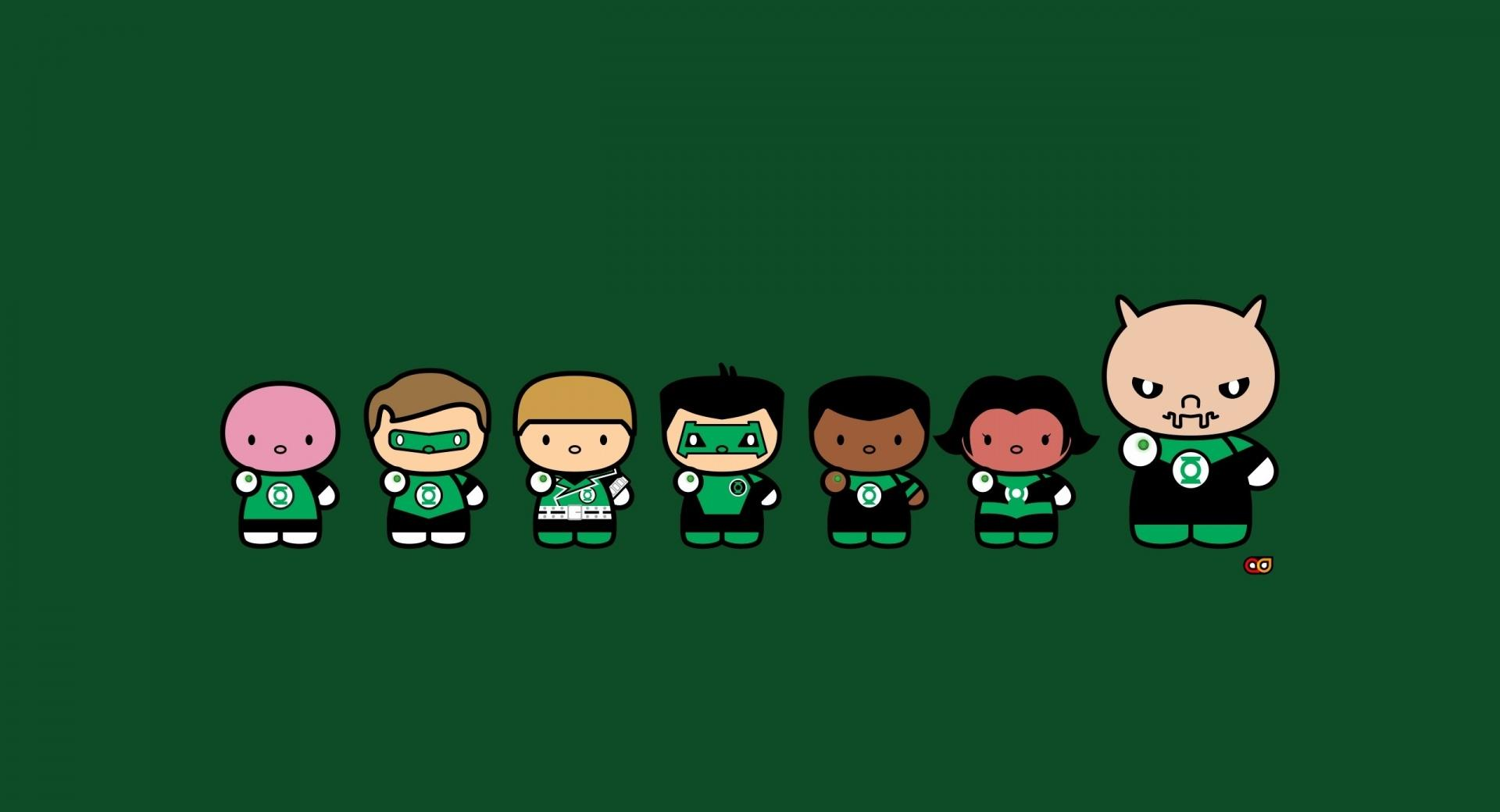 Chibi Green Lantern Corps wallpapers HD quality